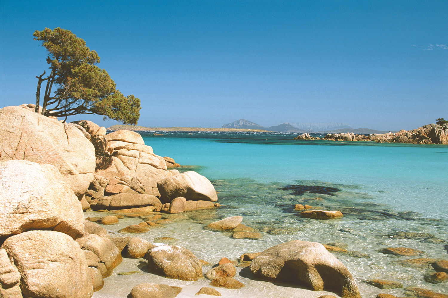 Beach at archipelago La Maddalena