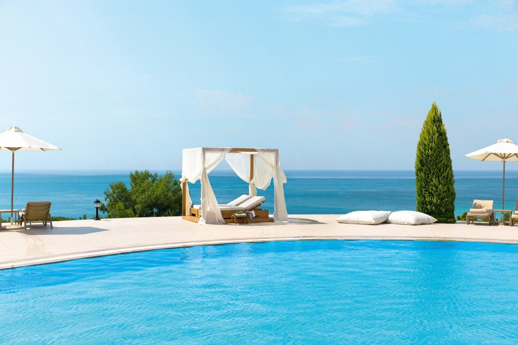 Poolside at Ikos Oceania