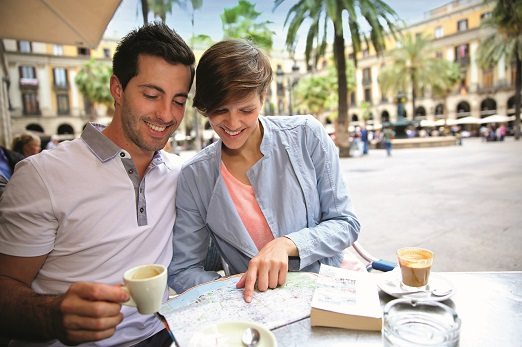Couple in Barcelona