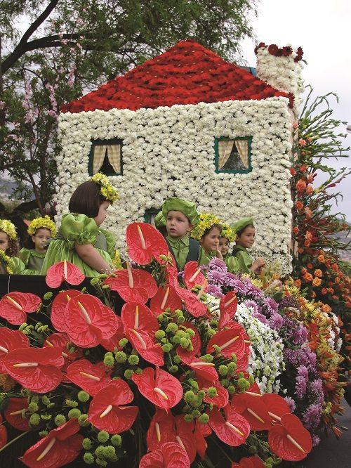Madeira Flower Festival, flower house