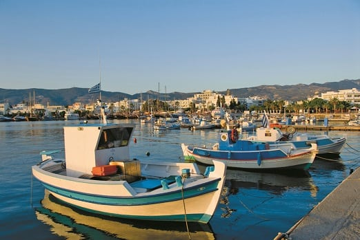 Harbour in Kos, Greece