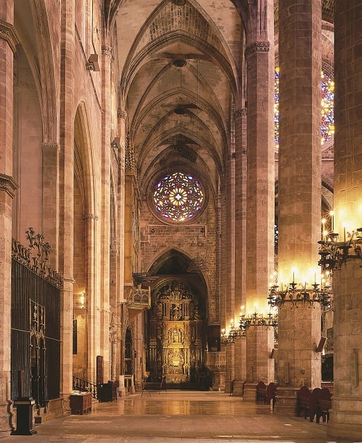 Palma Cathedral interior, Mallorca