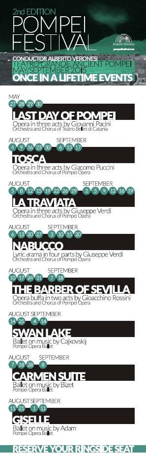 Pompei Festival 2015 programme
