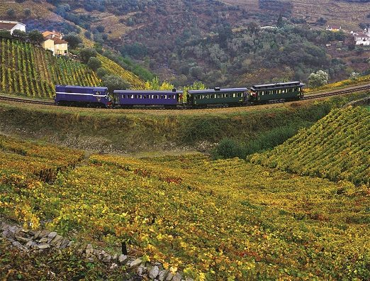 Train journey through the Douro Valley