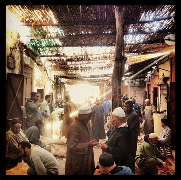 Leather market in the Souk, Marrakech
