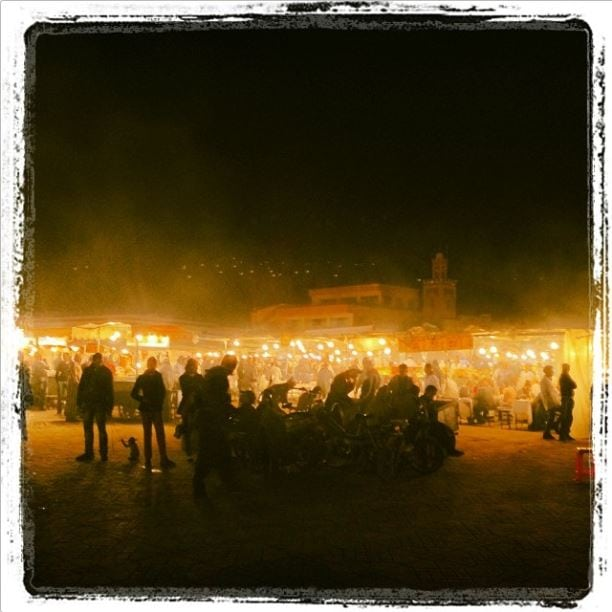 Djemaa el Fna square at night