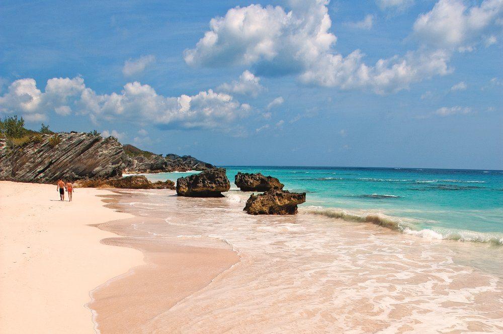 Pink sand beach of Bermuda