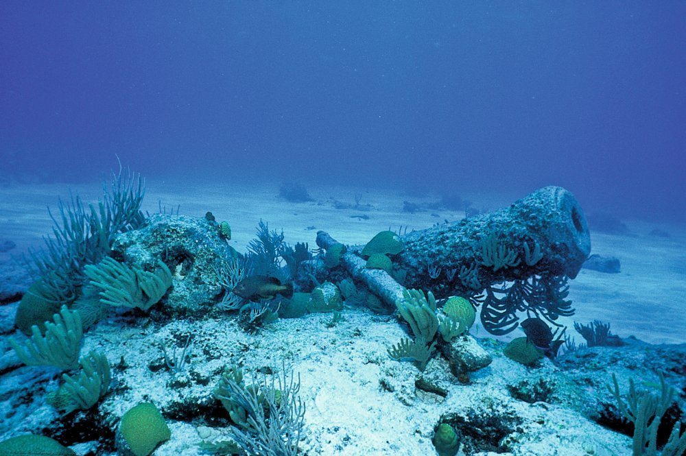 Deep sea scuba diving in Bermuda