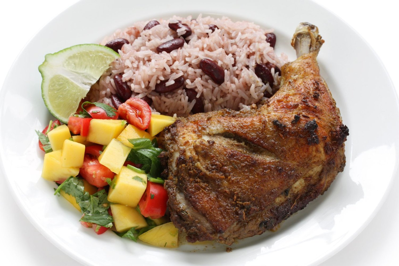 Caribbean food, Rice and Peas