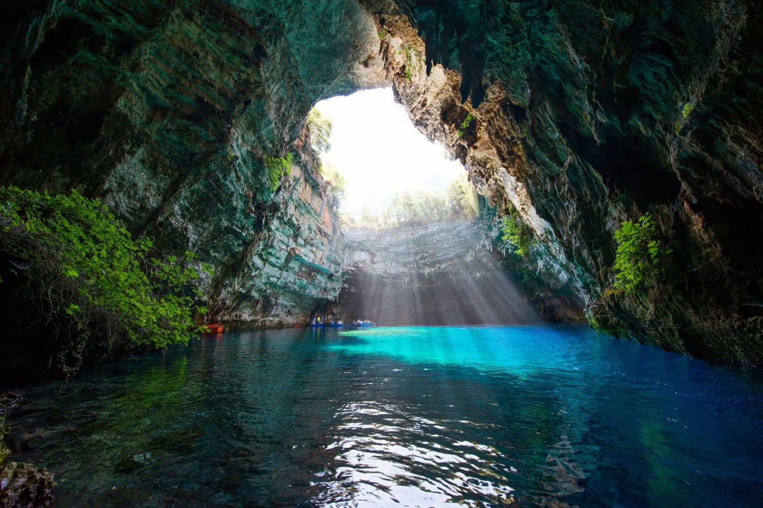 Which Greek Island, Kefalonia, Melissani Cave