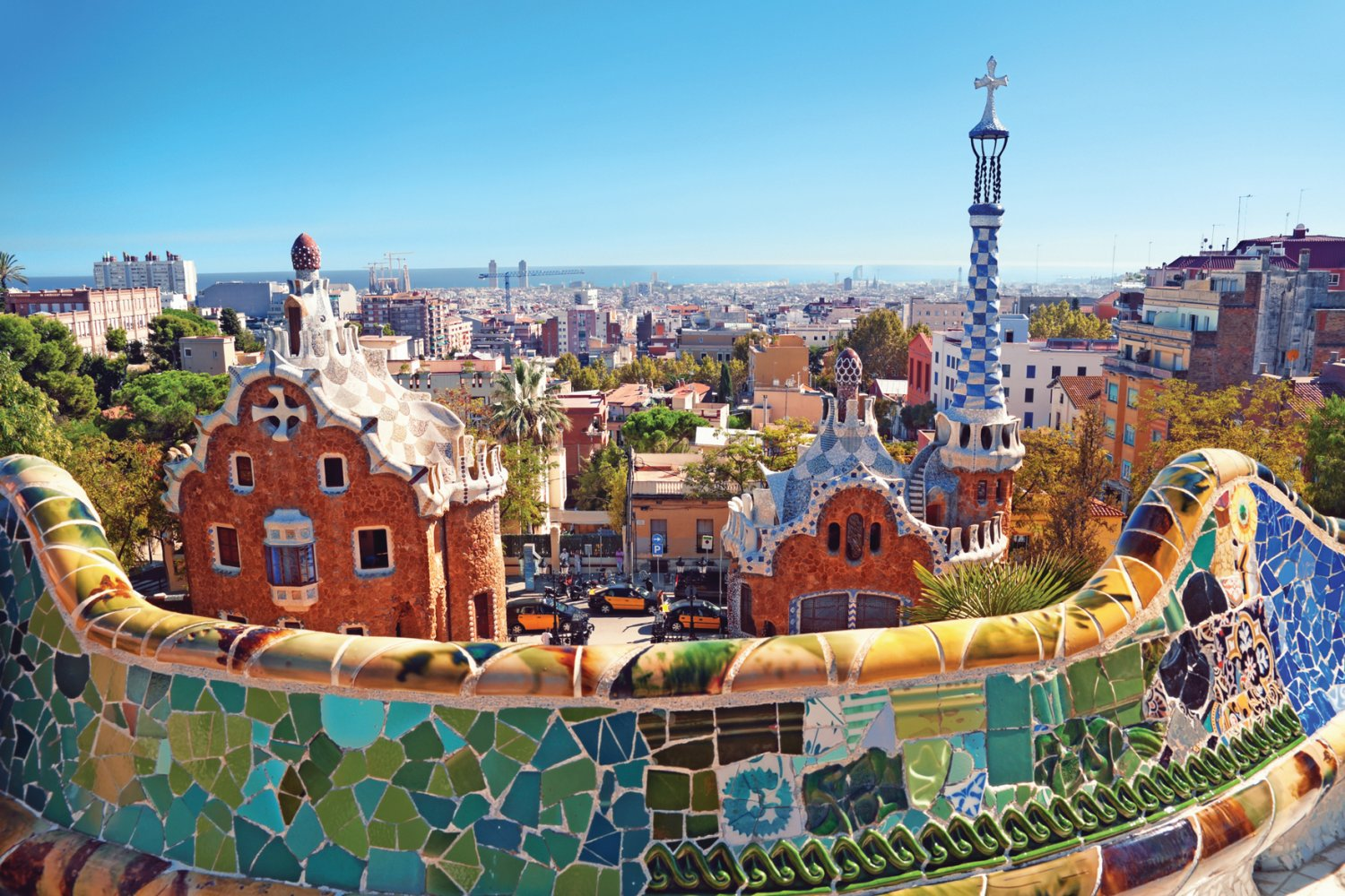 Historical sites in Spain, Park Guell, Gaudi, Barcelona