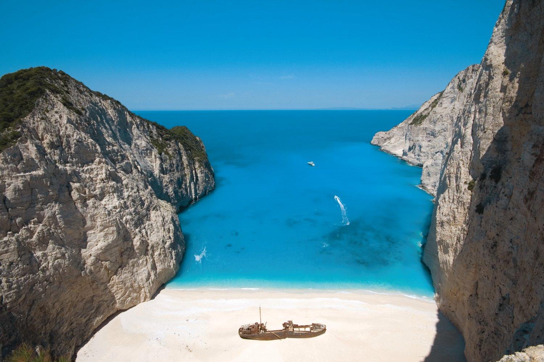 Which Greek island has the best beaches: shipwreck beach Zante