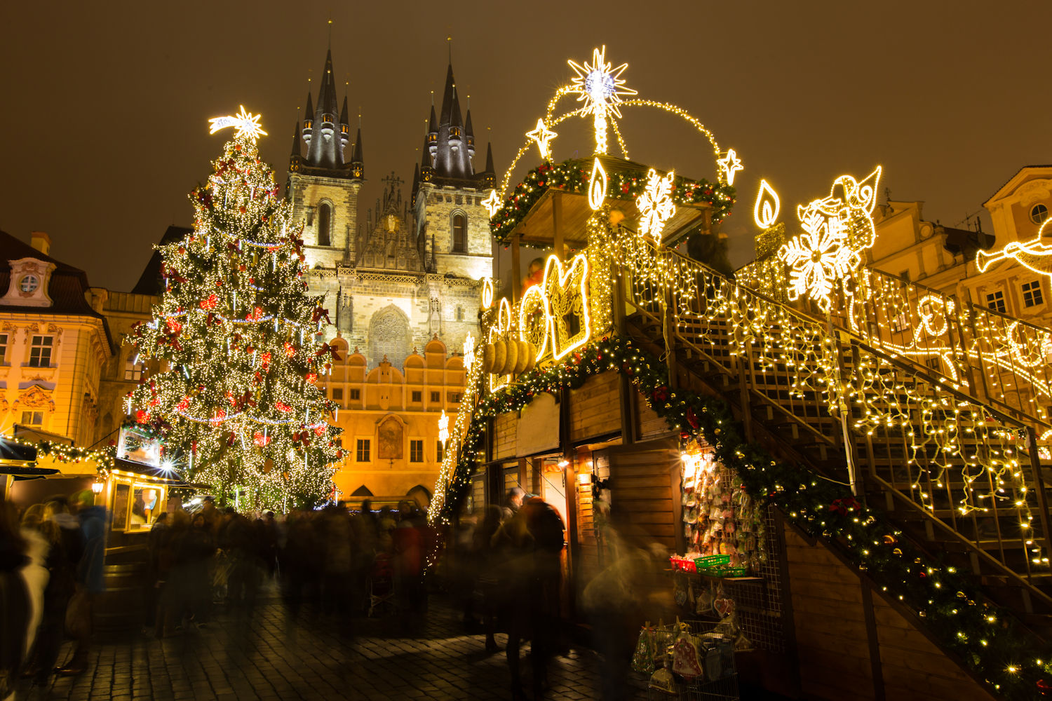 Christmas Market in Old Town Square in Prague