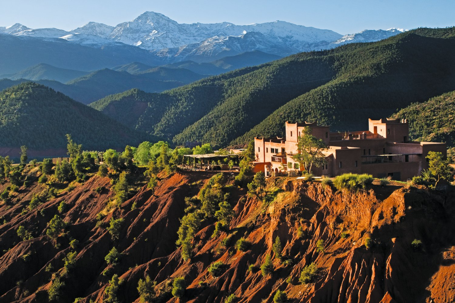 Kasbah in the Atlas mountains