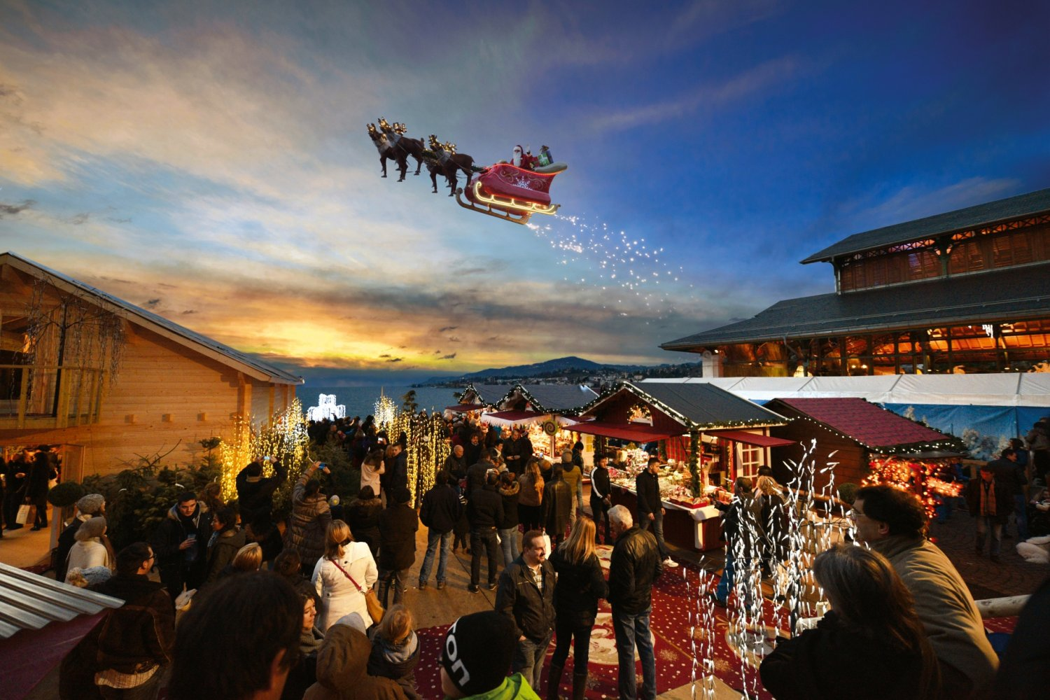 Montreux Christmas Market Switzerland