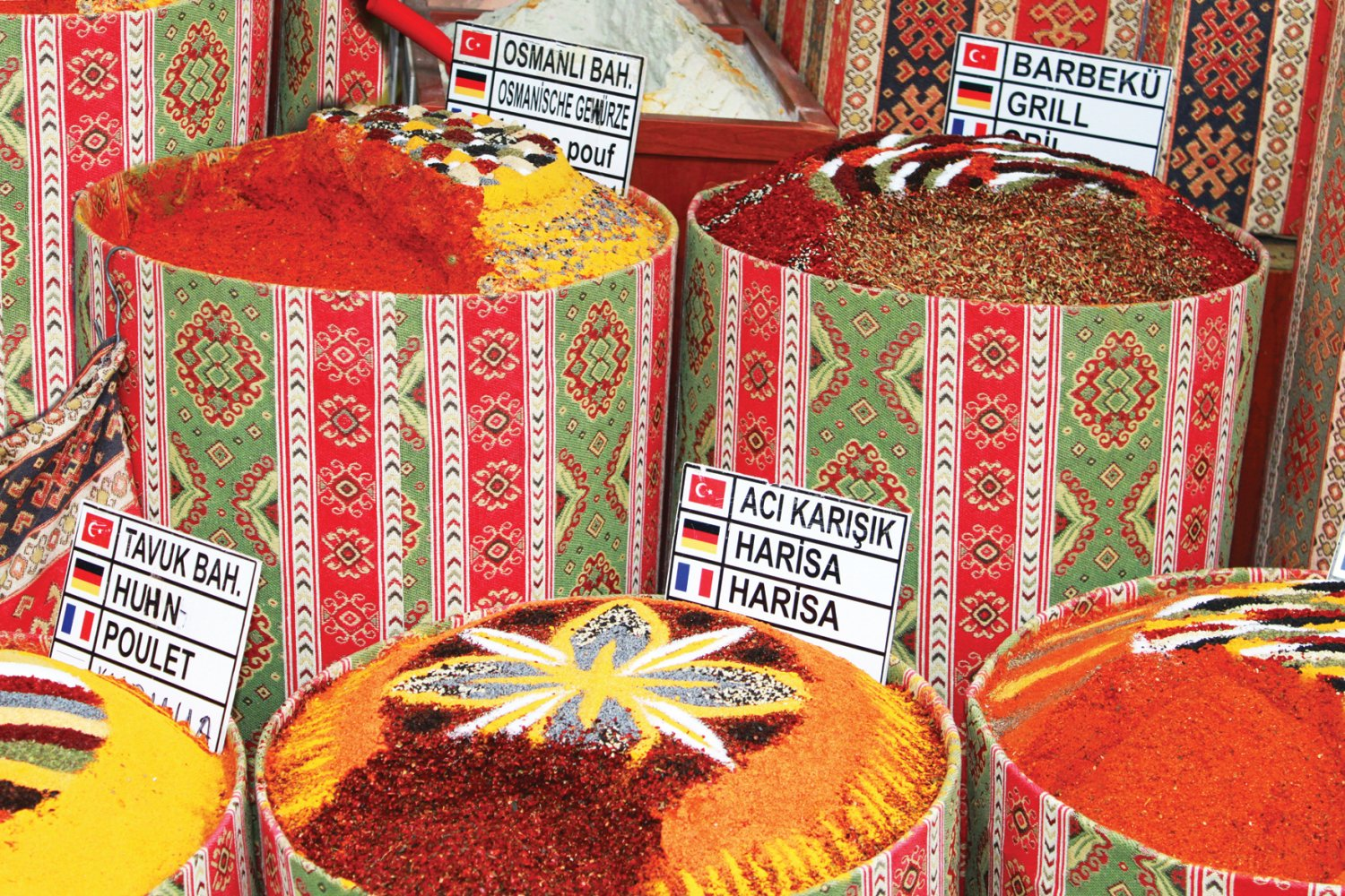 Spices of Morocco in souk market