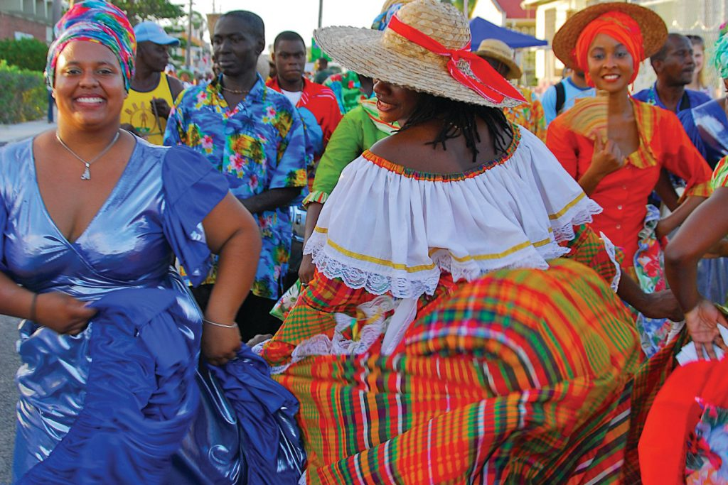 Dancers enjoying holetown festival