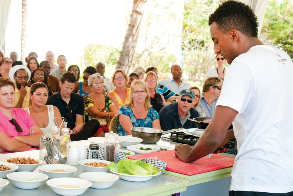 Cooking presentation, Food and rum festival