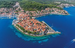 Old town Korcula, Aerial view