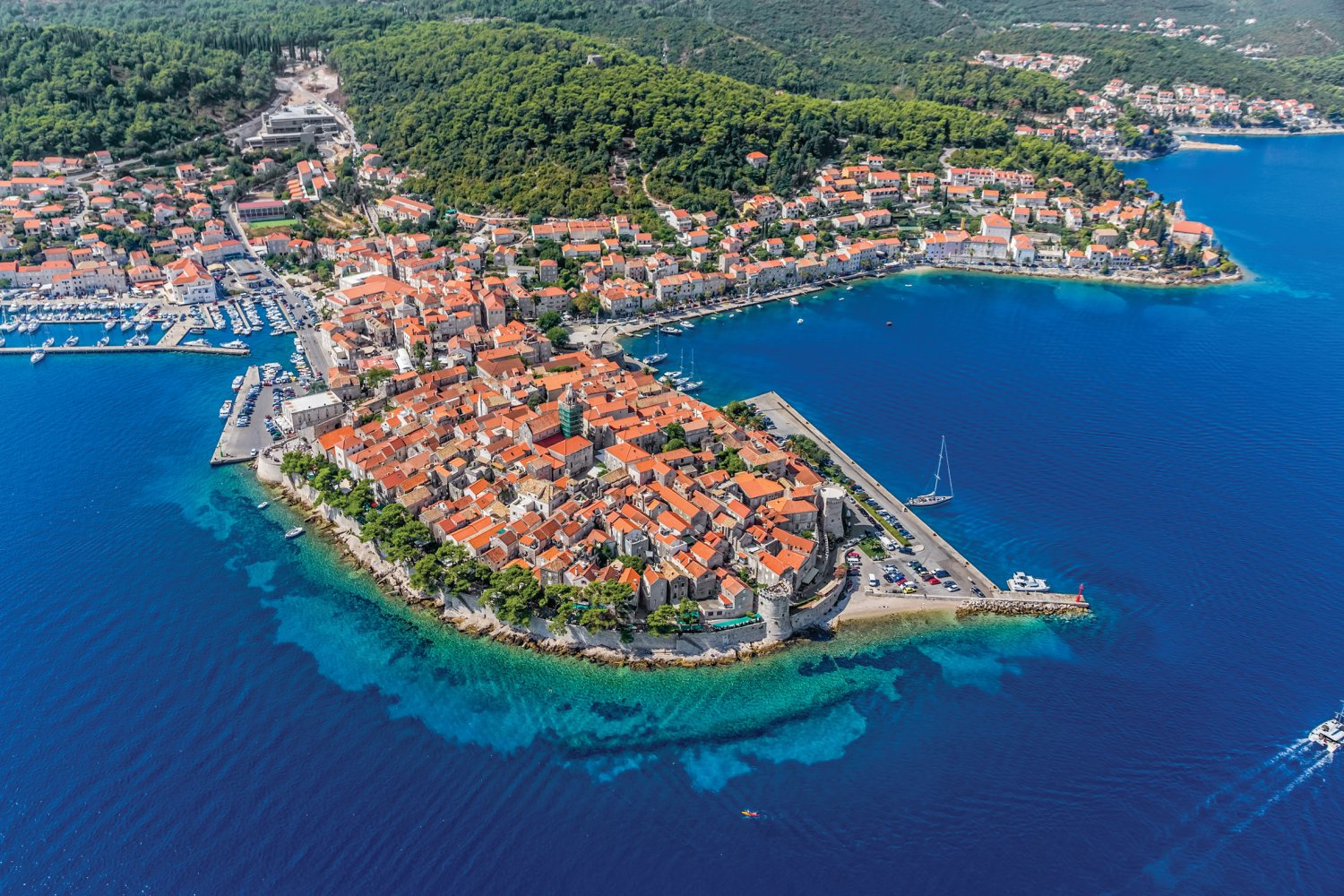 Croatian islands, Korcula, old town
