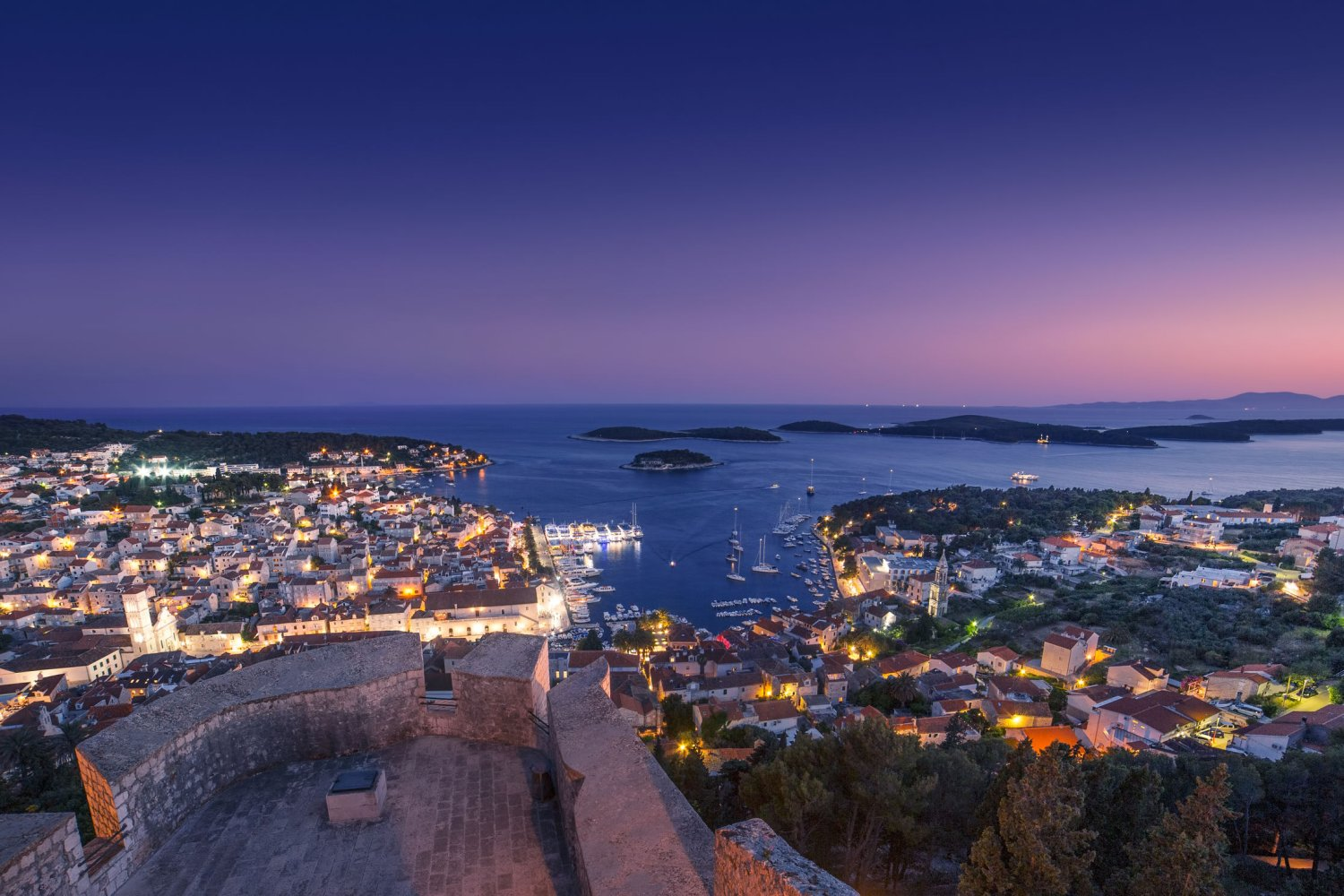 Croatian Island Hvar, View of Hvar Town