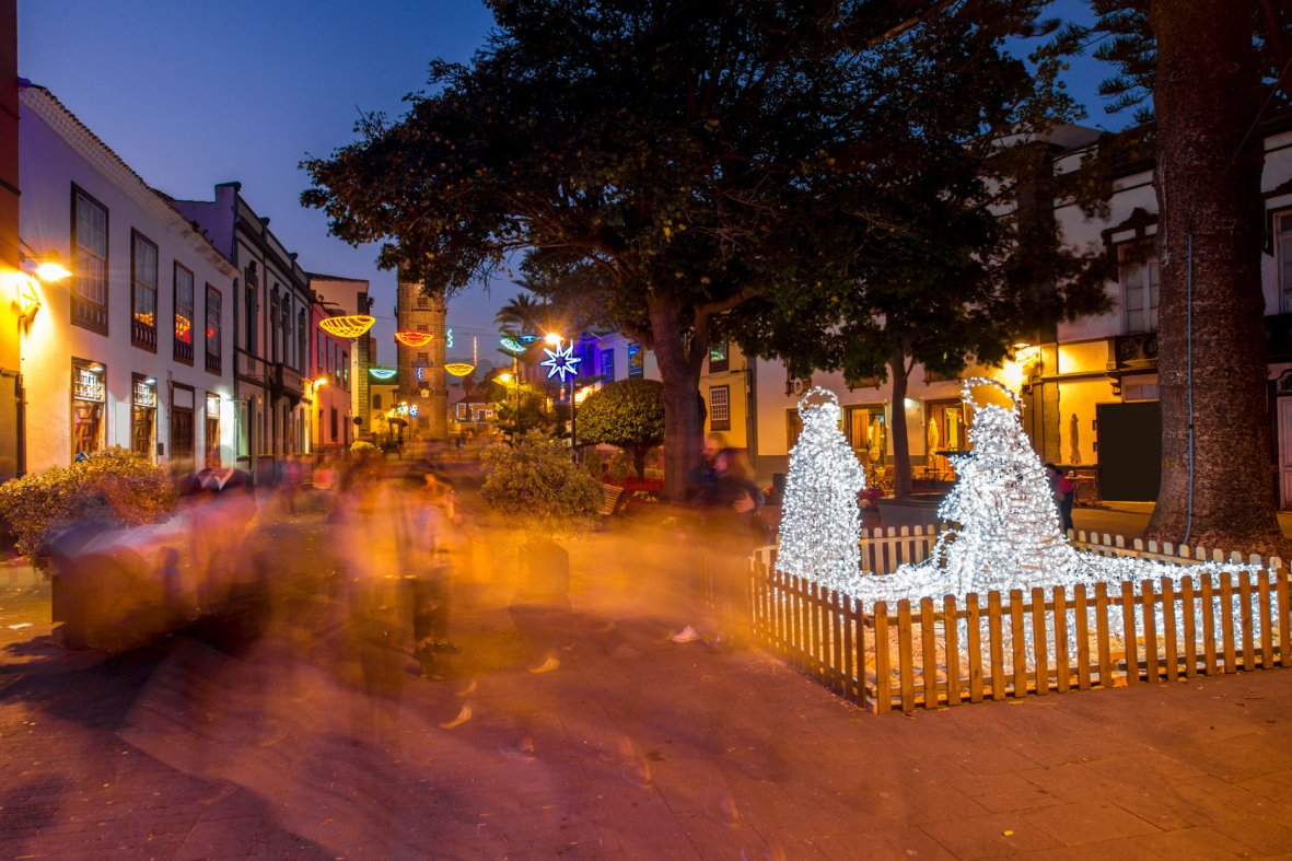 Christmas decorations in La Laguna, Tenerife