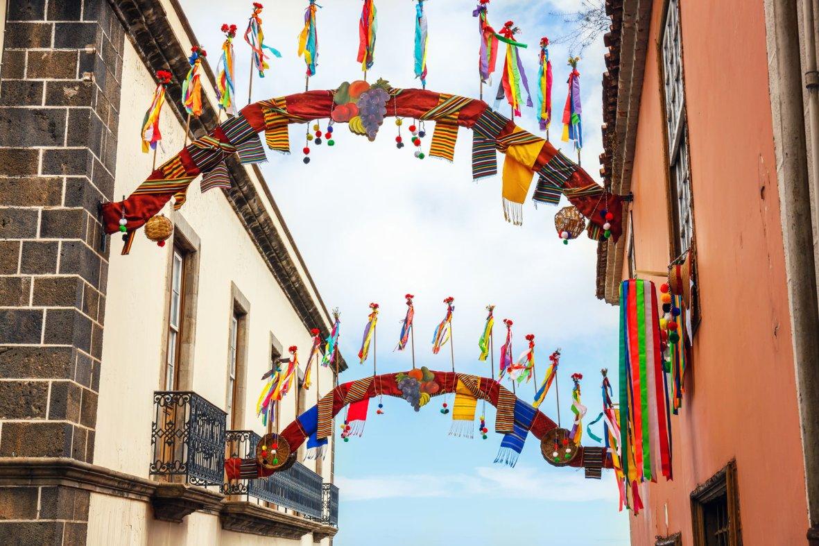 Decorated streets of La Orotava