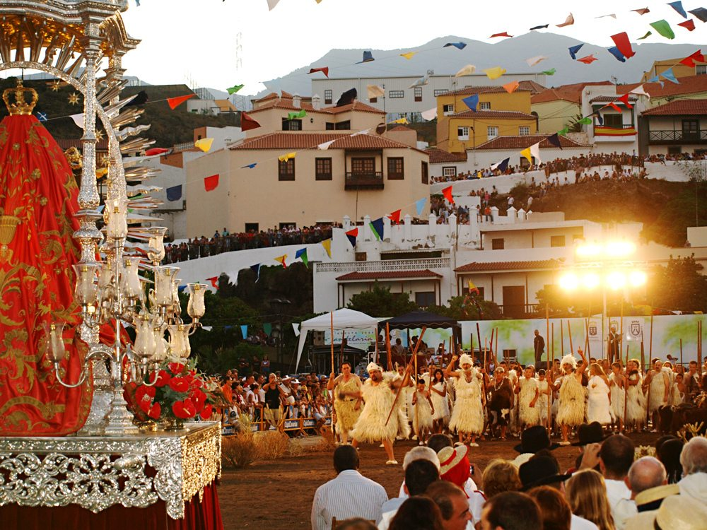 ceelbration of Canary islands patron saint