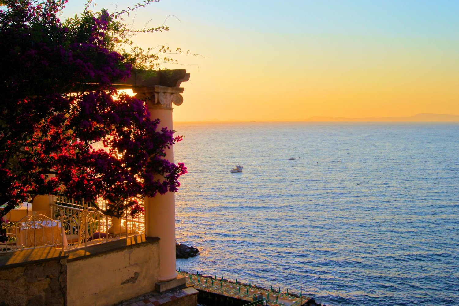 sunset view from sorrento terrace