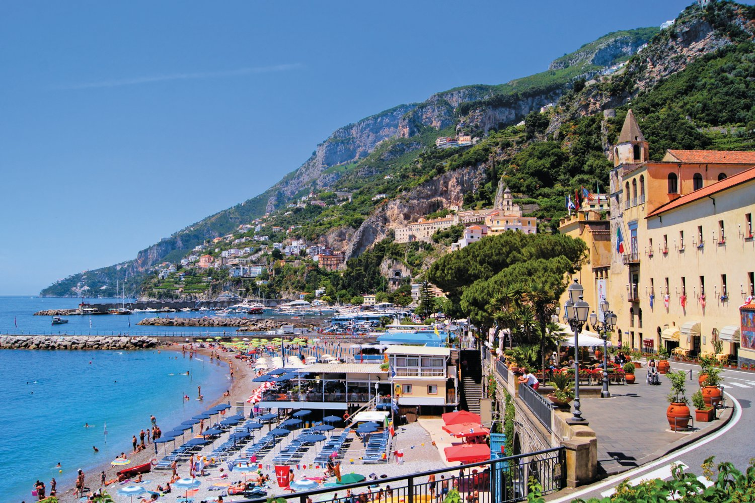 best beaches near Sorrento, Marina grande