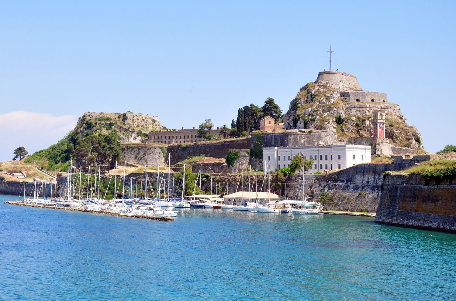 old fortress at corfu town