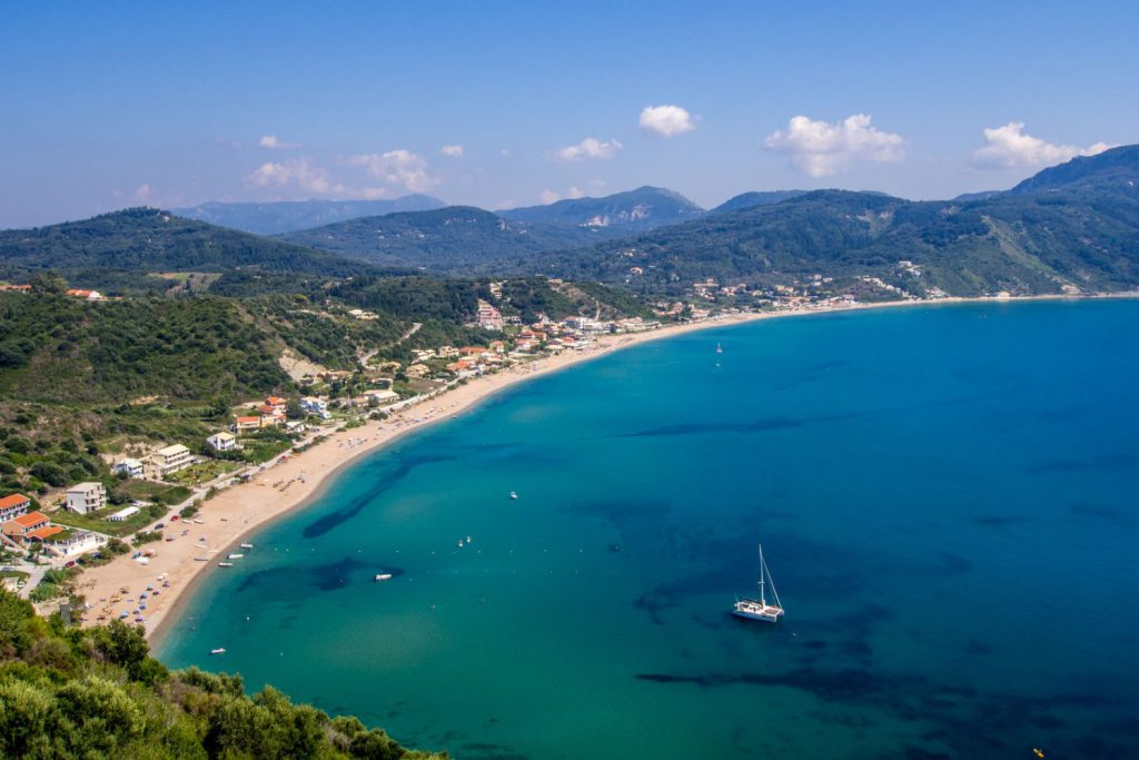 agios georgios, beast beaches in Corfu