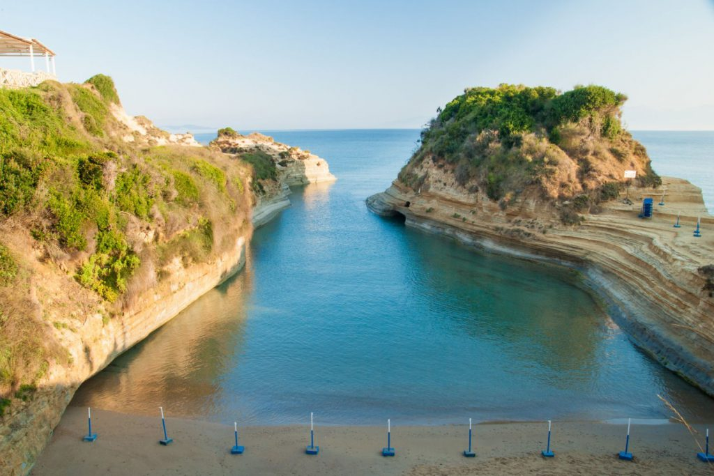 canal d'amour, best beaches in corfu