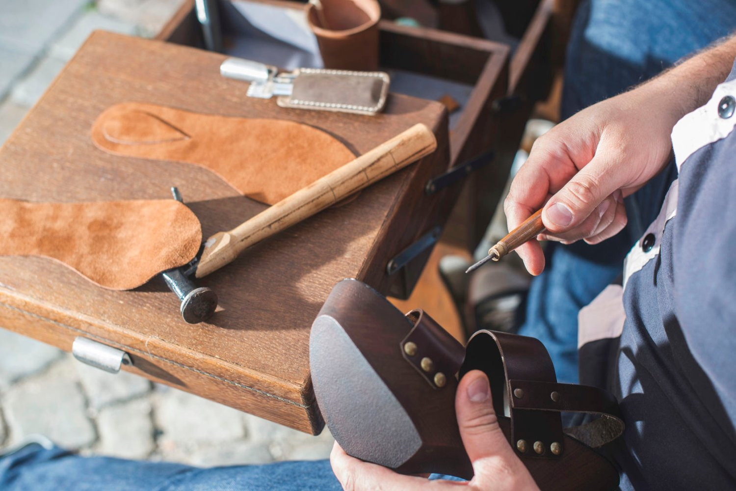 traditional leather crafting