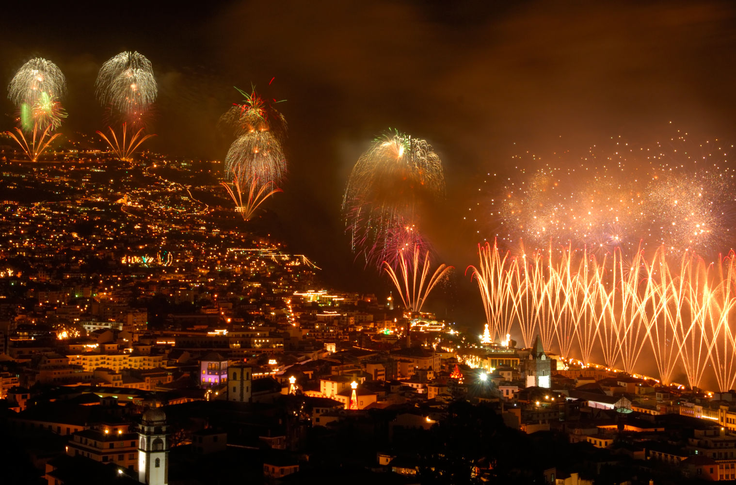 Madeira new years eve fireworks