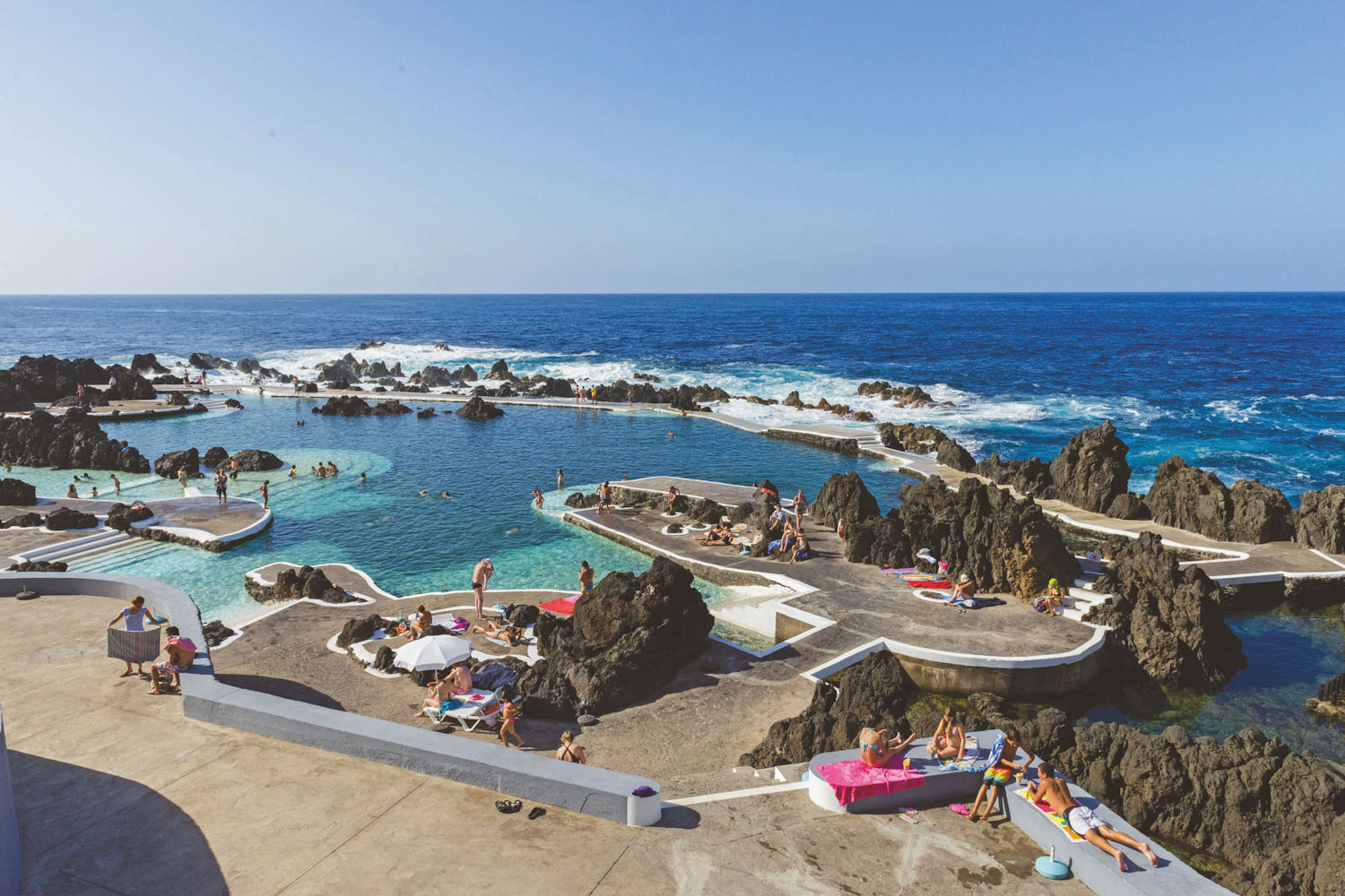 Lava pools porto Moniz