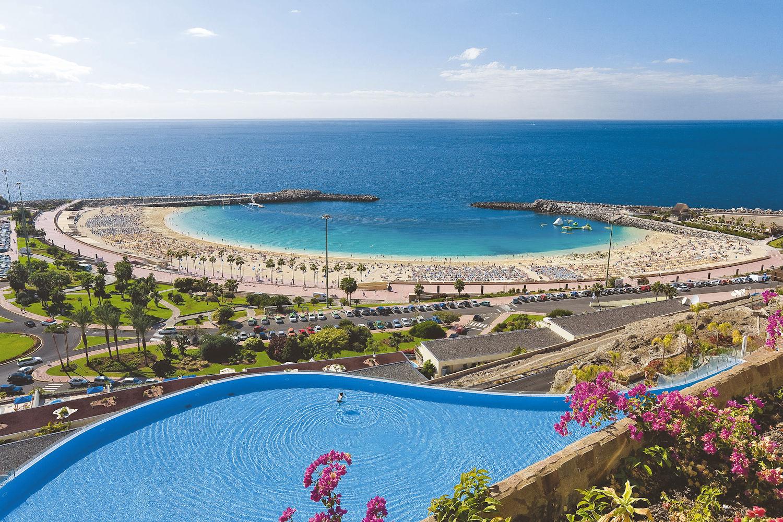 view of amadores beach, gran canaria