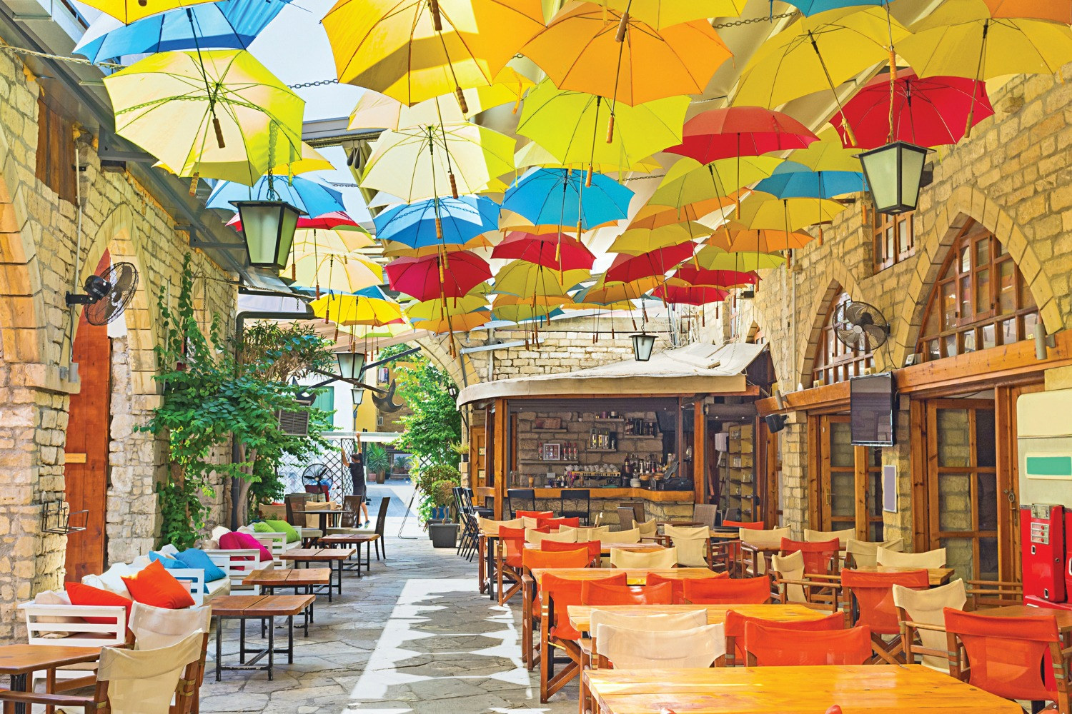 Cafe in Limssol, Cyprus