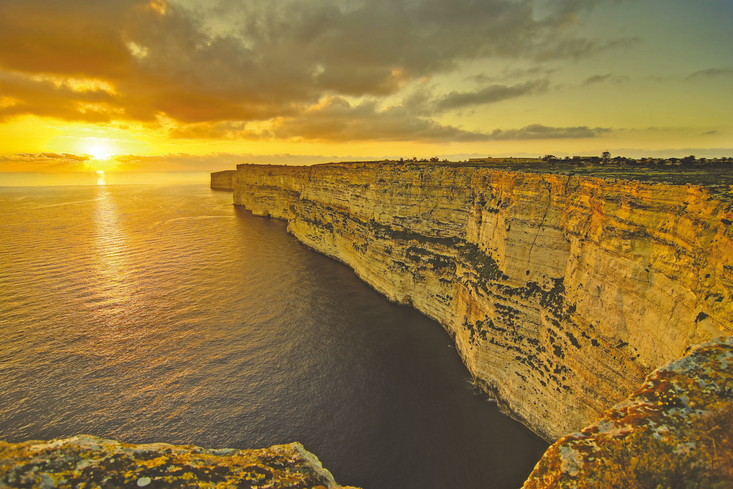 Cliffs of Malta and Gozo
