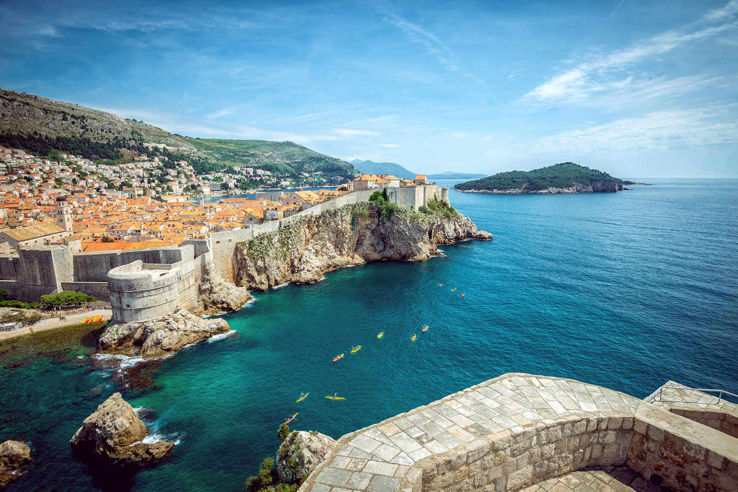 kayak is a great thing to do in dubrovnik