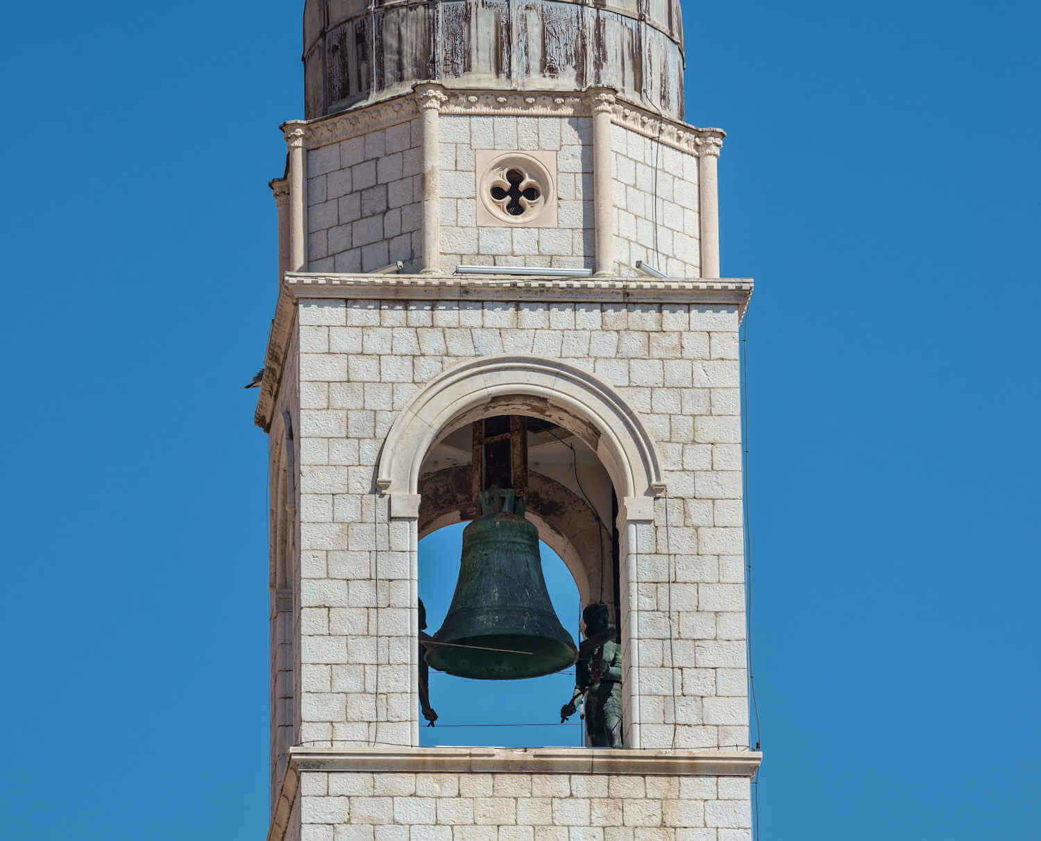 Clock tower in old town dubrovnik