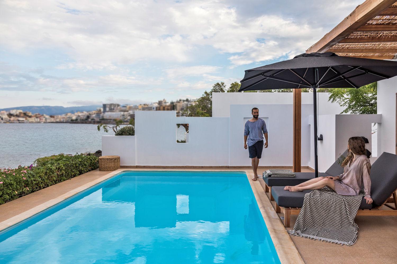 Two Bedroom Villa Private Pool at Minos Beach Art 'Hotel, Crete