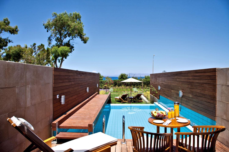 Elite Suite Private Pool with Garden View (Partial Sea) at Elite Amathus Suites, Rhodes