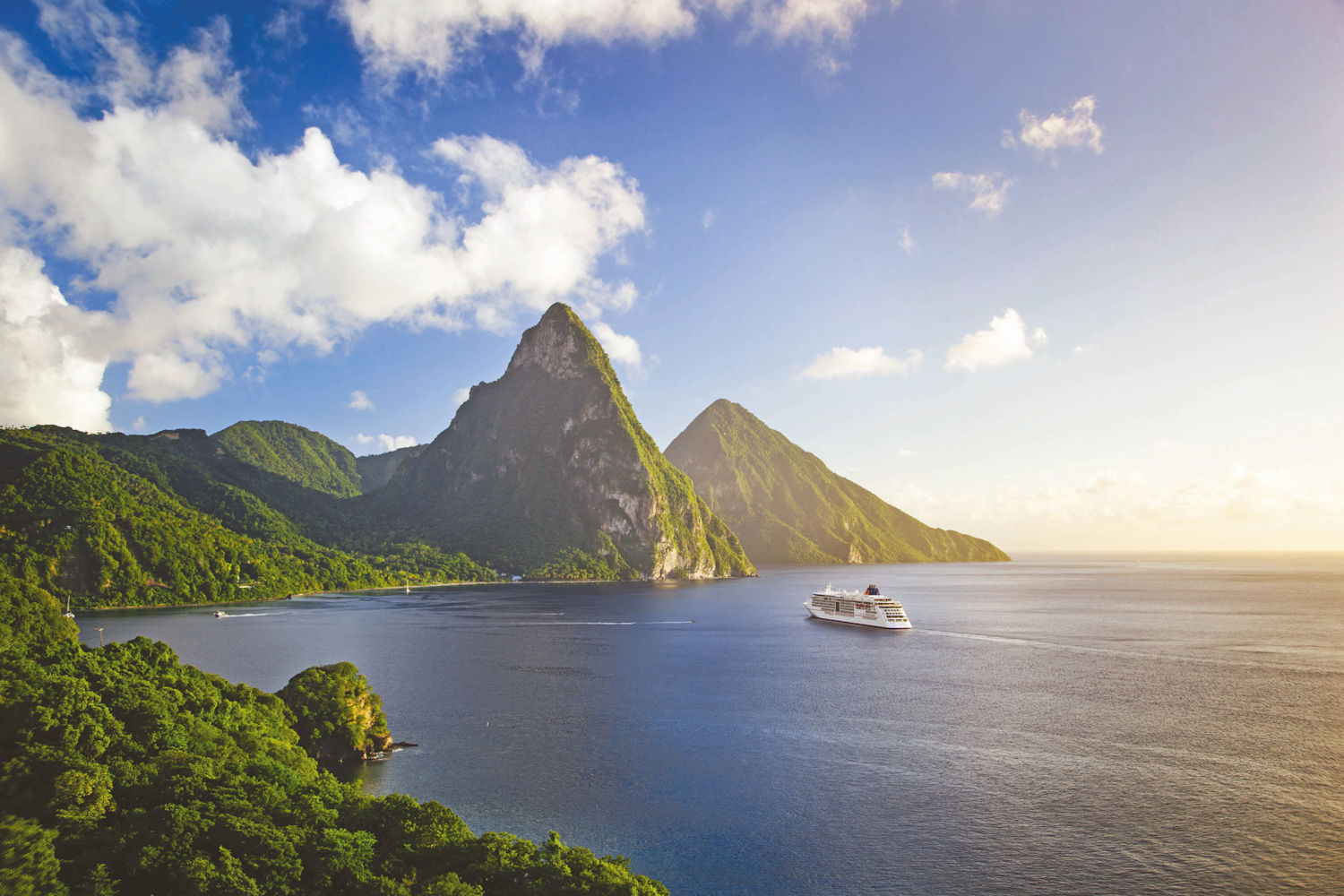 st lucia, piton mountains