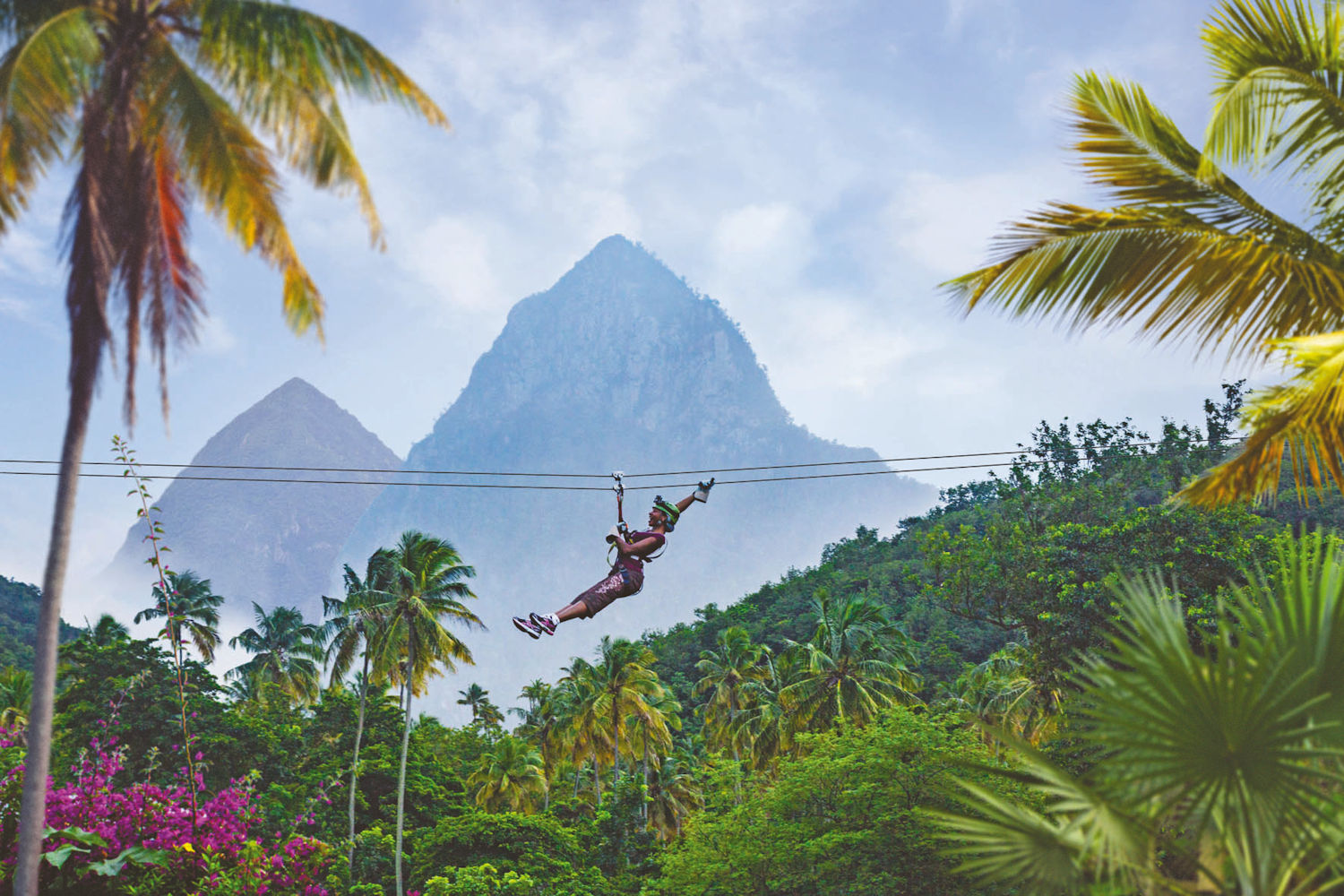 st lucia, canopy zip line