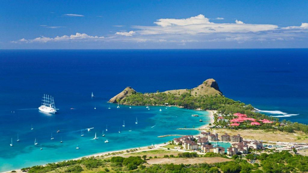 Aerial View of Pigeon Island