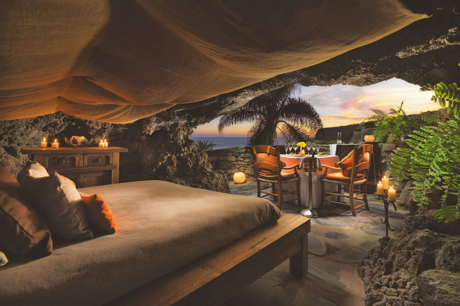 cave for two at Jardin tecina La gomera