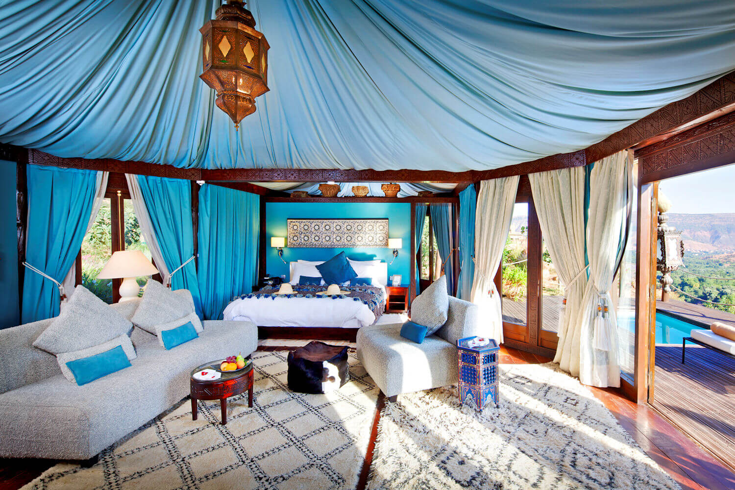 berber tented suite at Kasbah Tamadot