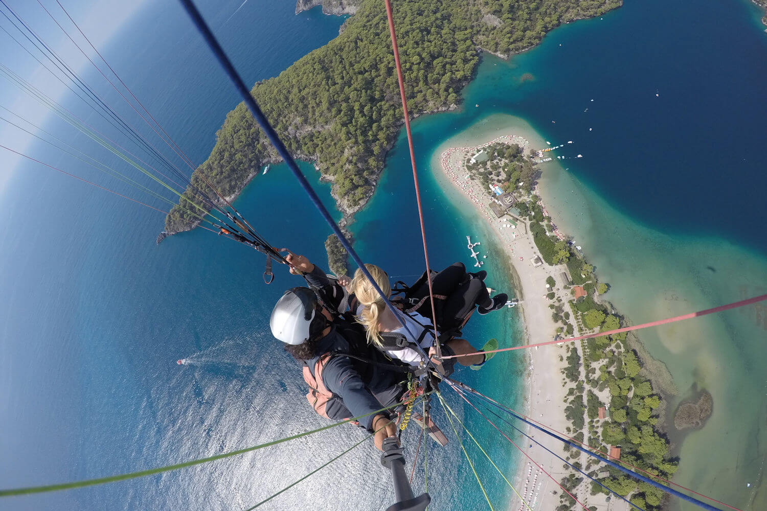 paragliding view of oludeniz, turkey