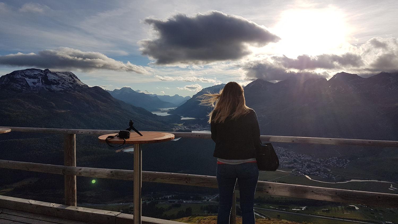 view from Muotas muragl, graubunden